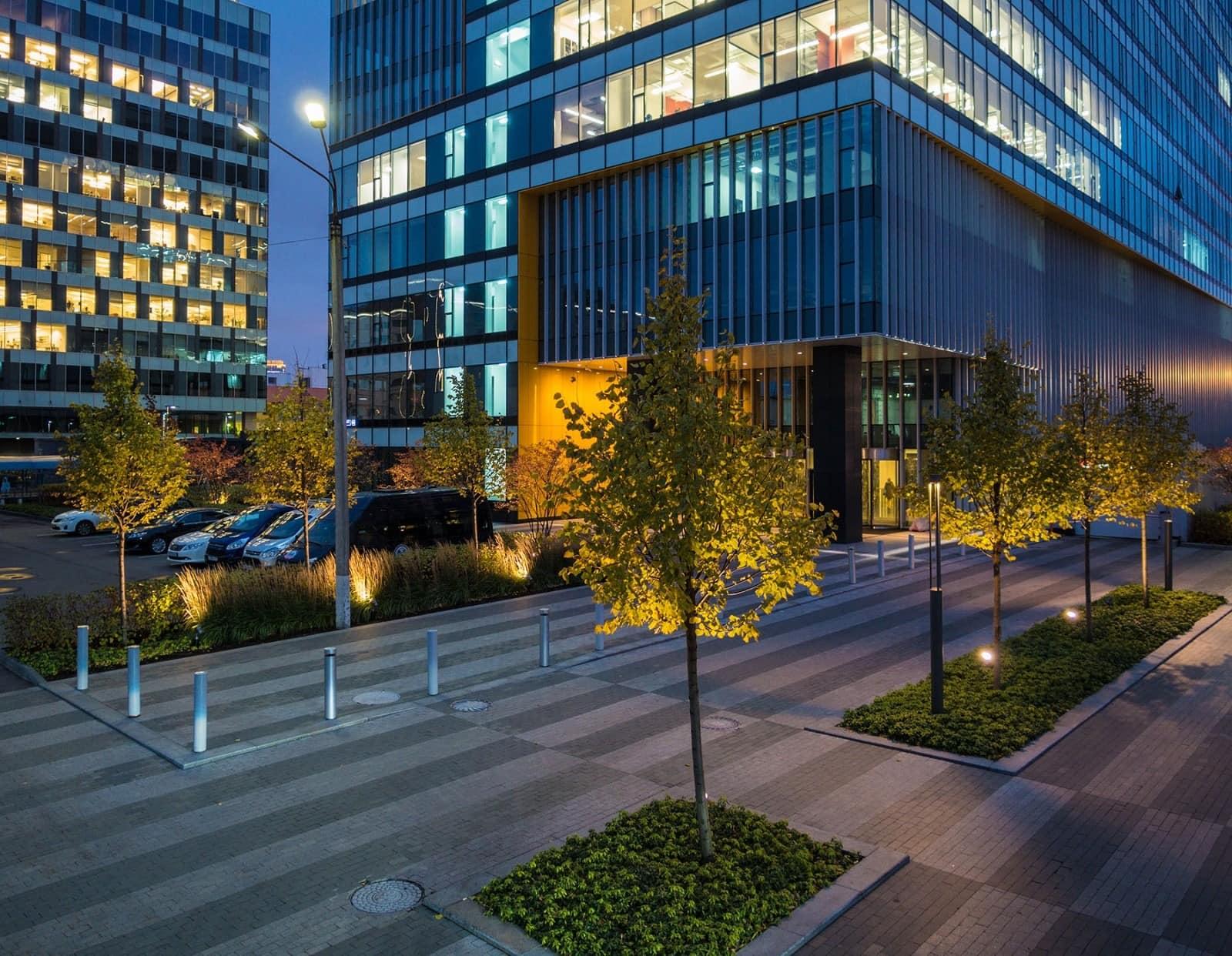 commercial lighting design: Aerodom exterior
