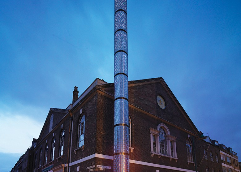 public realm lighting: Brick Lane