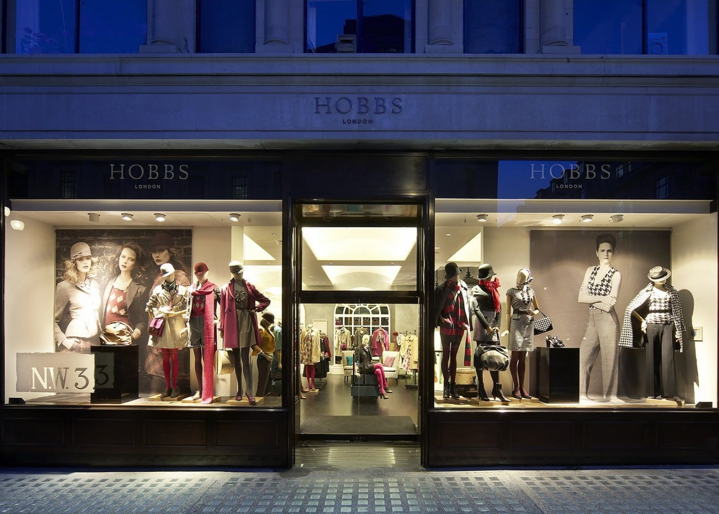 retail lighting design: Hobbs Regent Street exterior