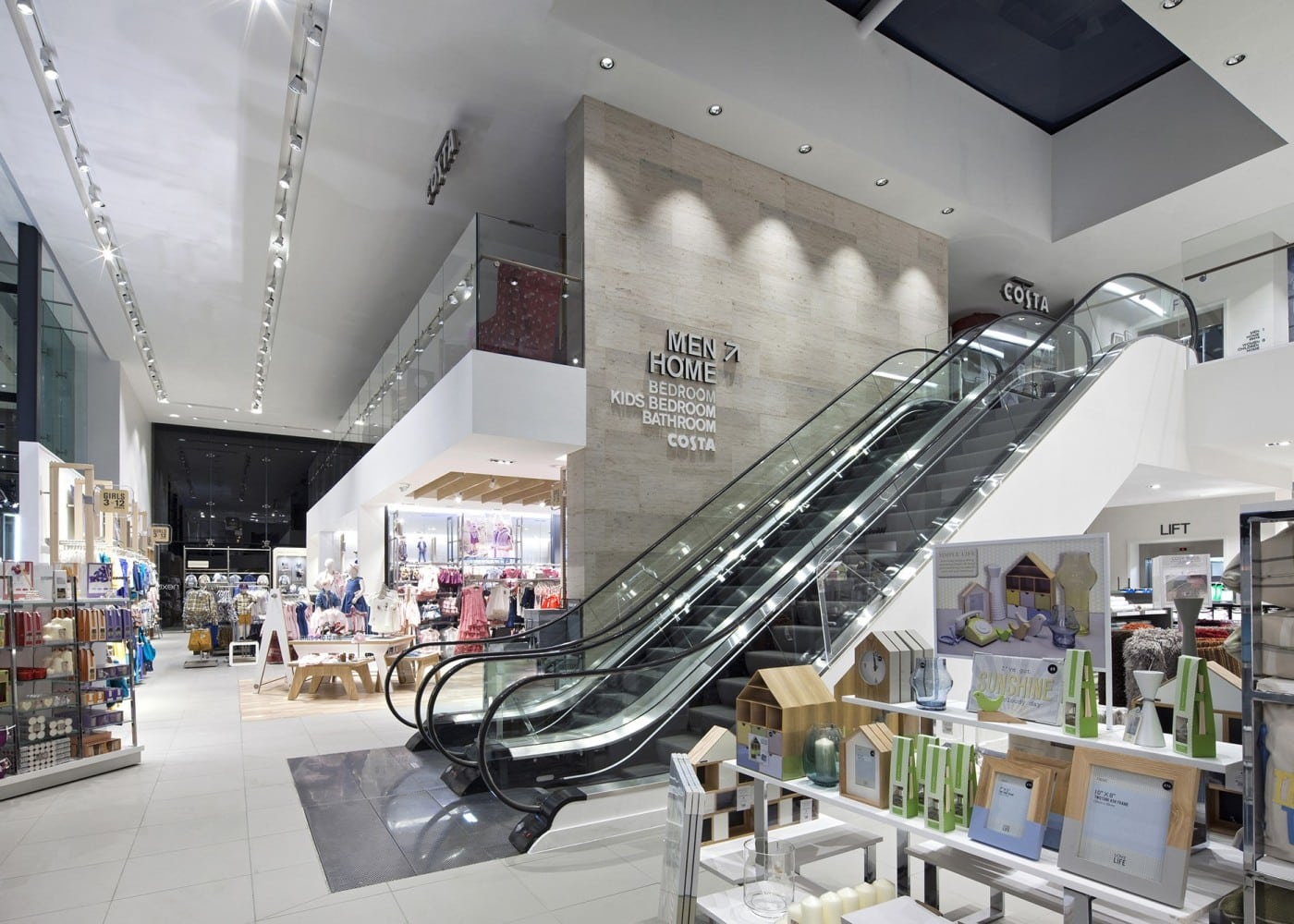 retail lighting design: Next interior