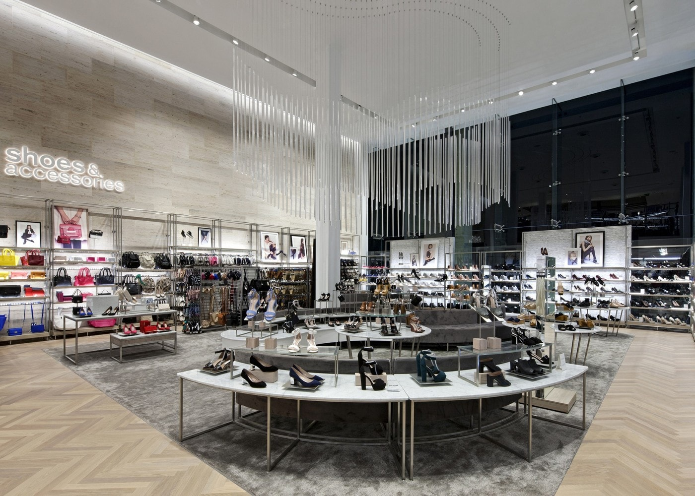 retail lighting design: Next shoes and accessories department