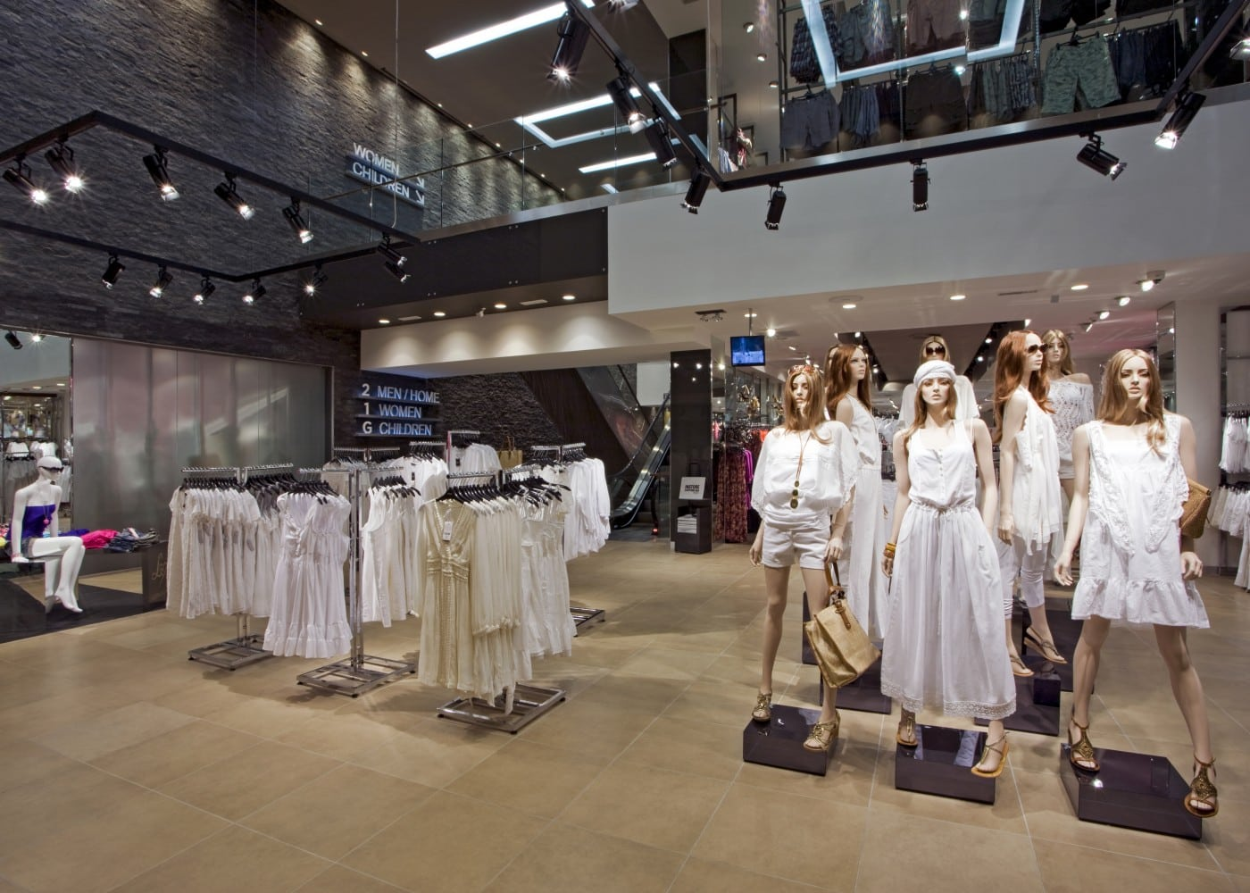 retail lighting design: Next womenswear section
