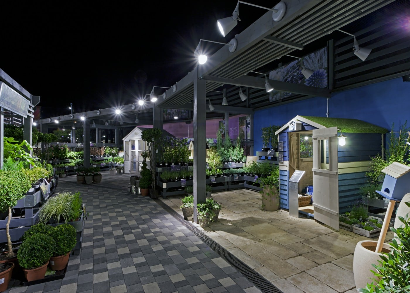 retail lighting design: Next Home garden department