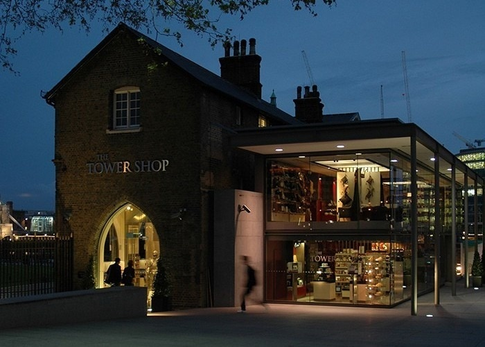 exhibition lighting design: the Tower Shop