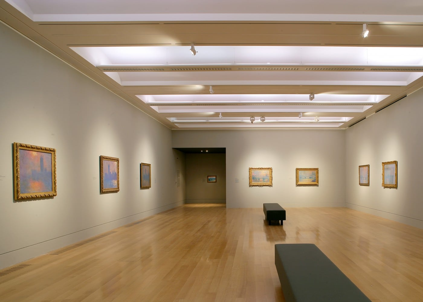 art gallery lighting design: Turner Whistler Monet