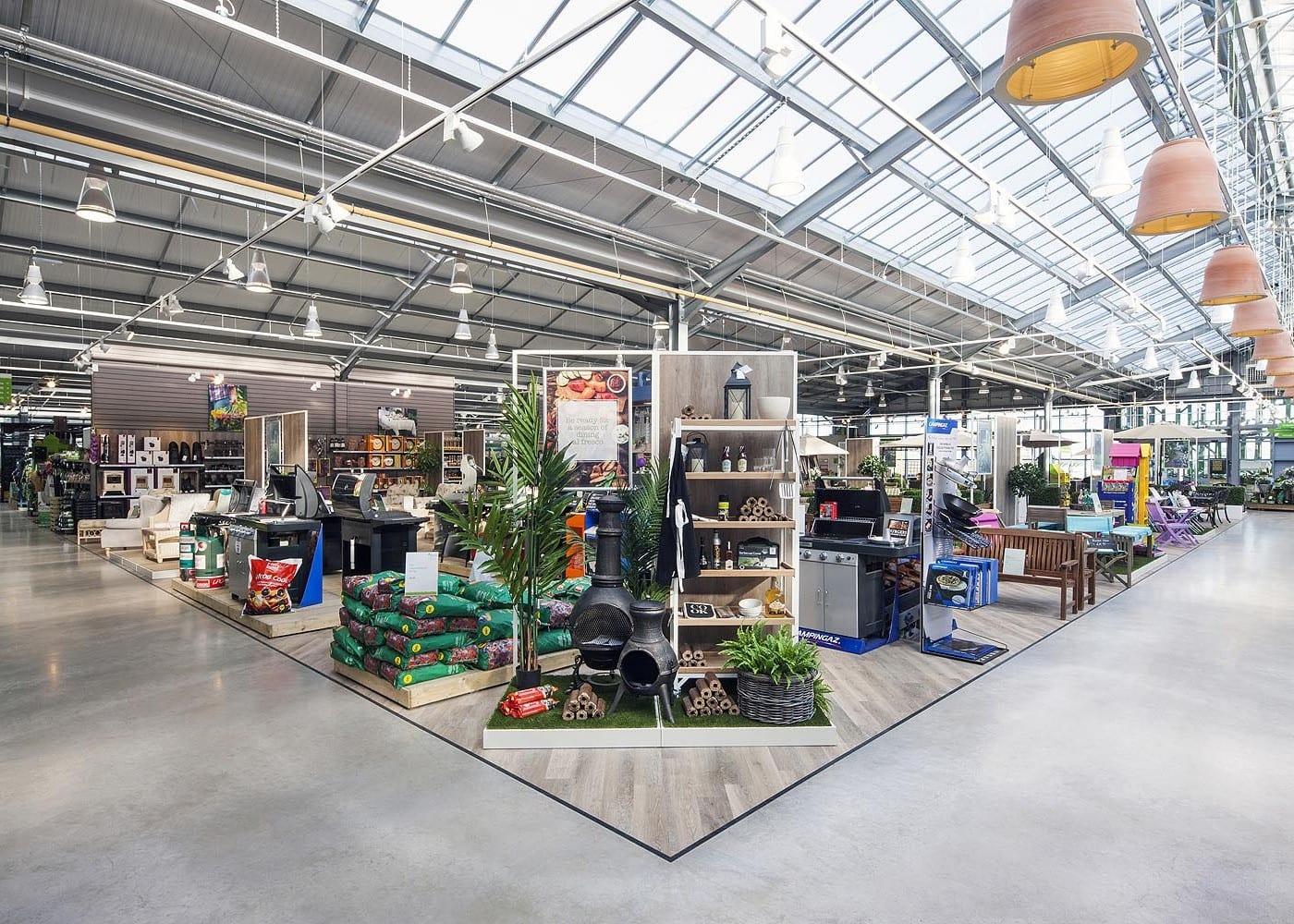 retail lighting design: The Garden Centre shop floor