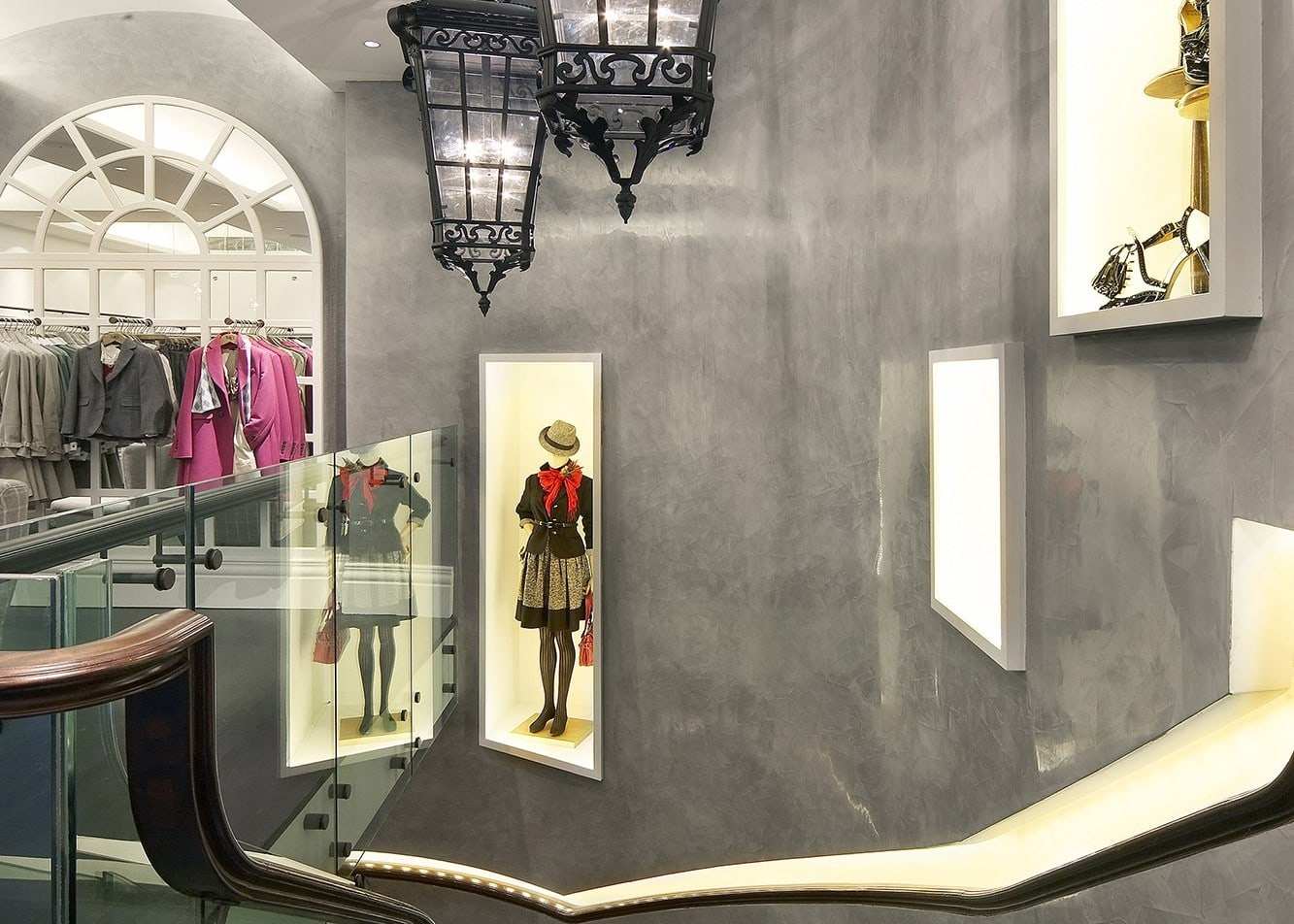 retail lighting design: Hobbs Regent Street staircase