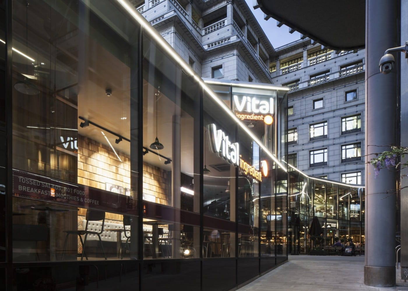 retail lighting design: shopping centre exterior