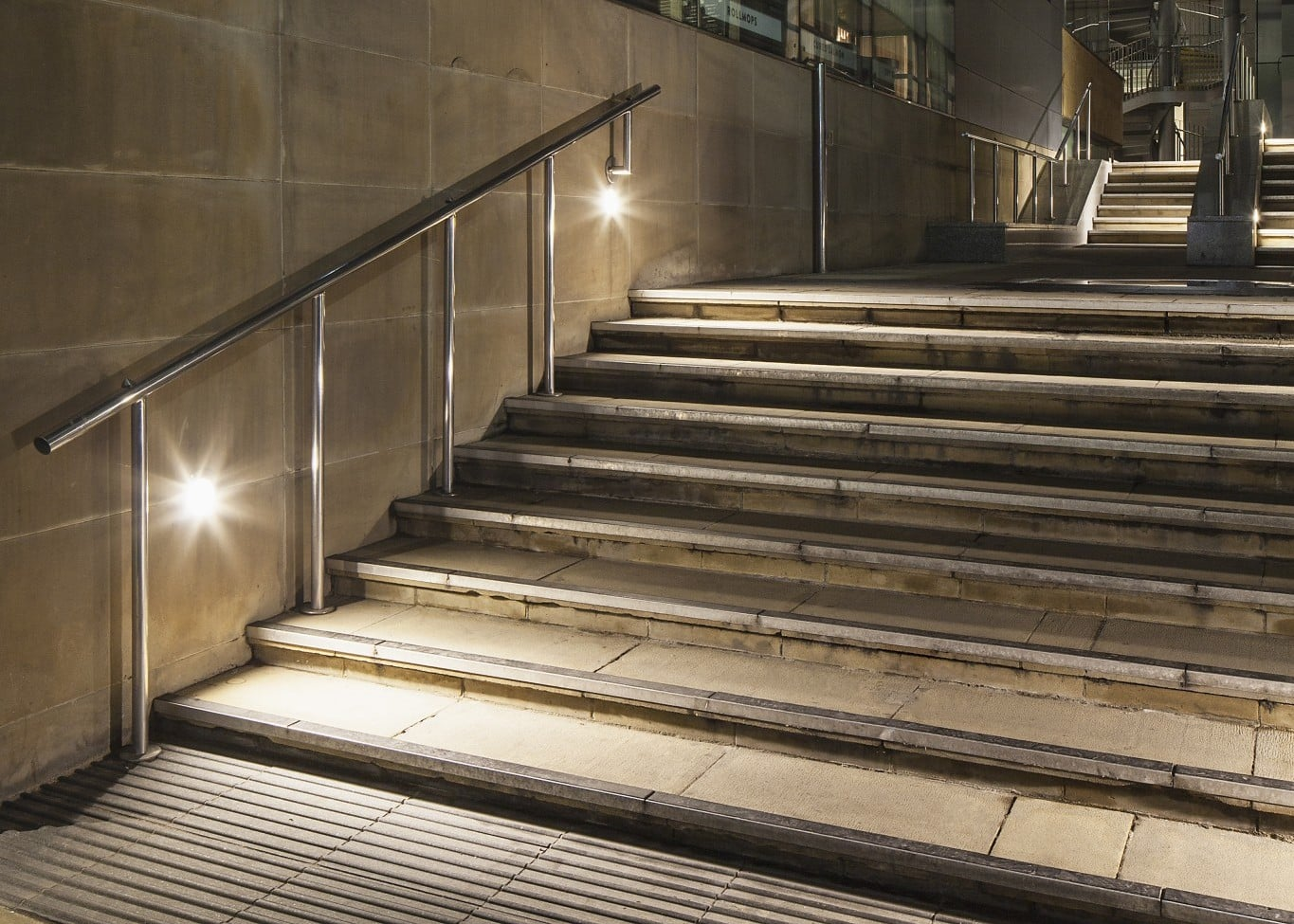 lighting design street stairway
