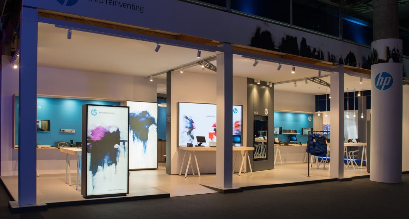 retail lighting design: Barcelona HP booth