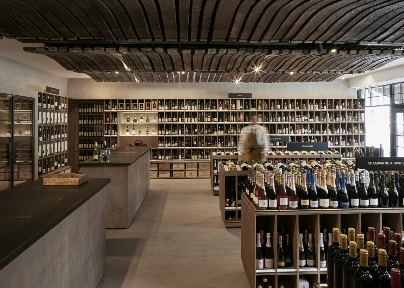 retail lighting design: BBR store interior