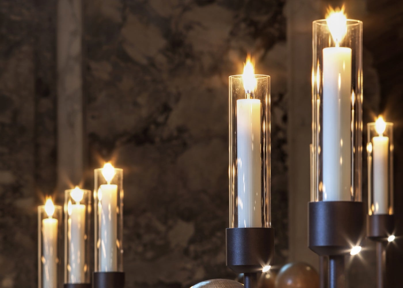 architectural lighting design: Brasenose College Chapel candles