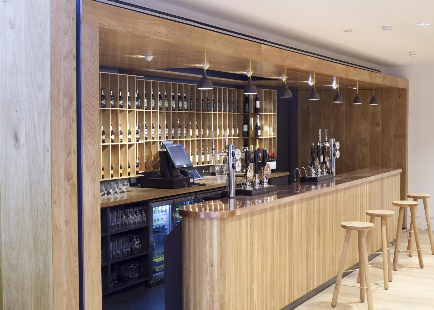 hospitality lighting design: bar area