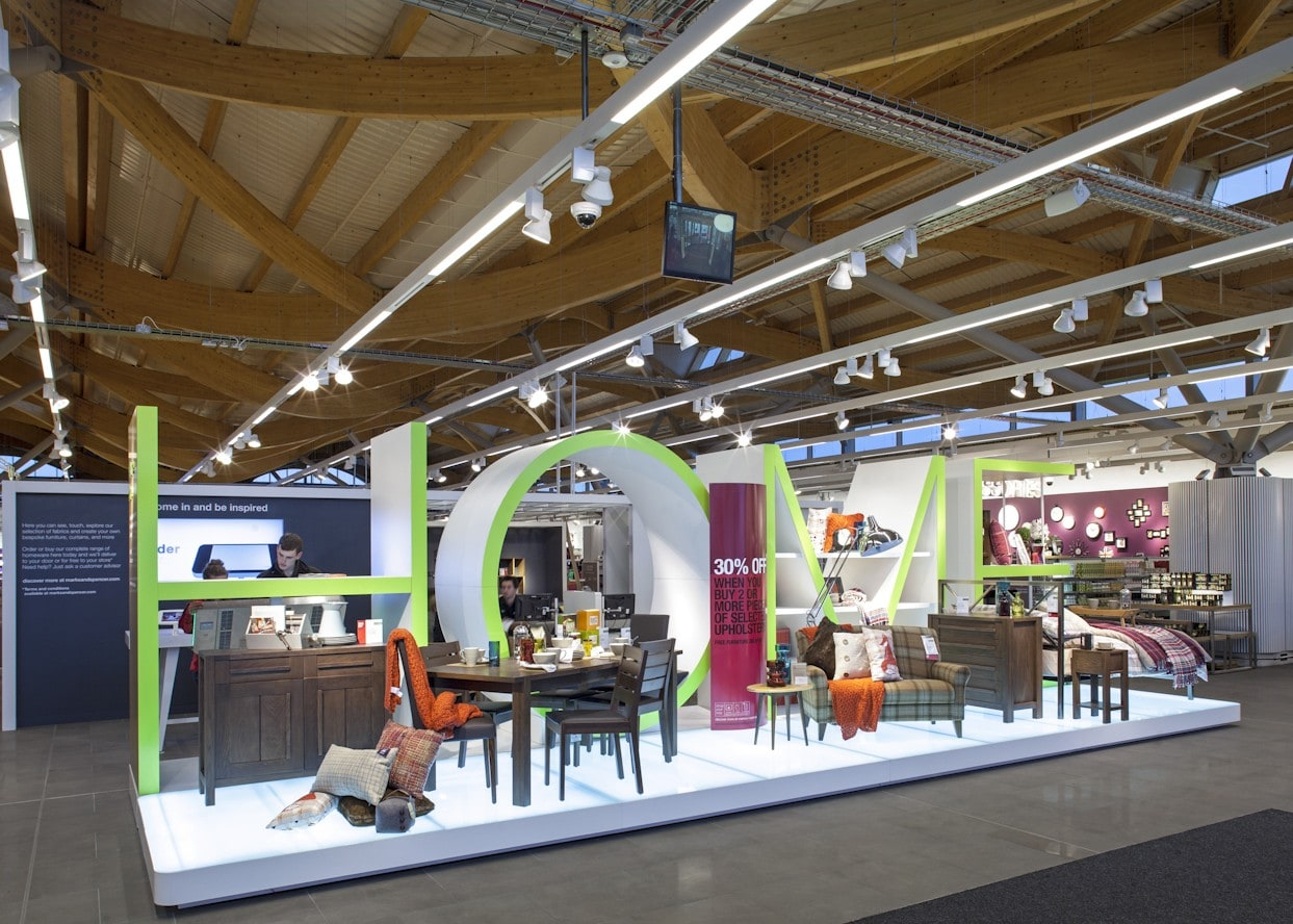 retail lighting design: M&S Chester home department