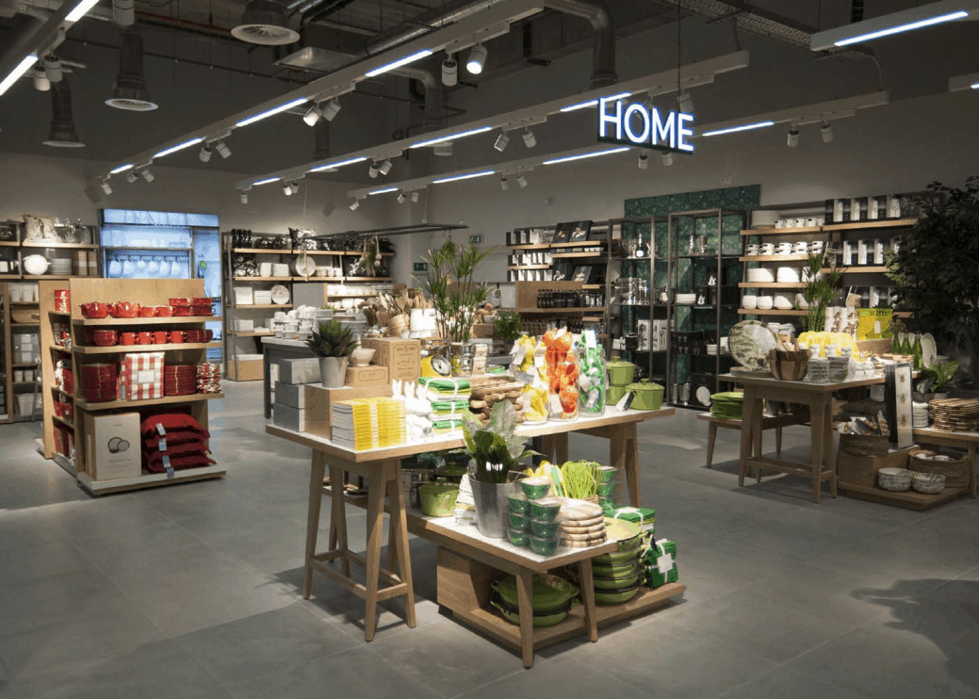 retail lighting design: TD home department