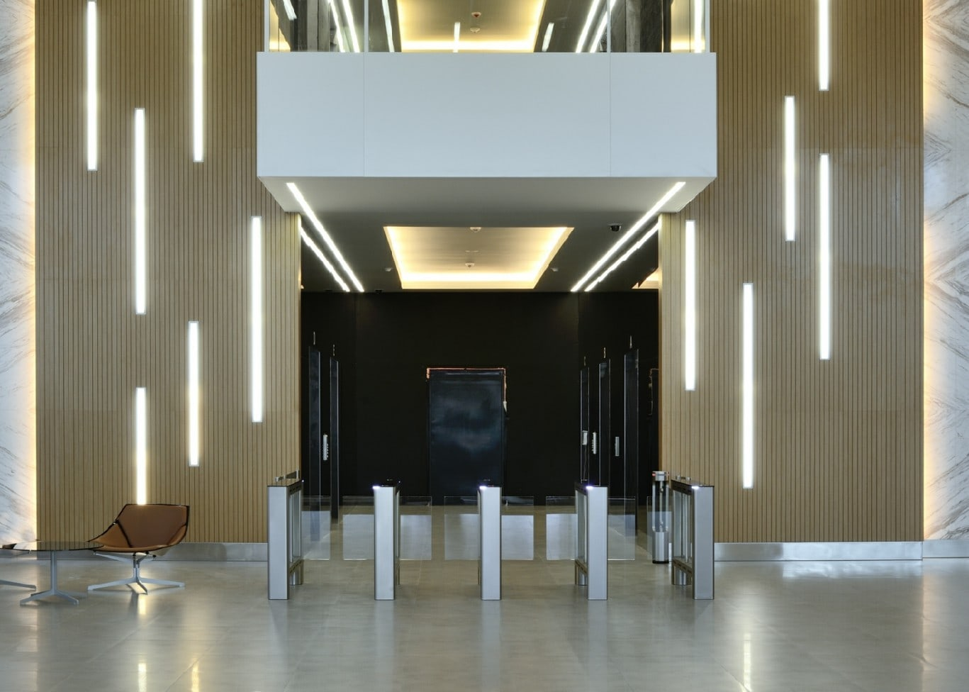 commercial lighting design: entrance way