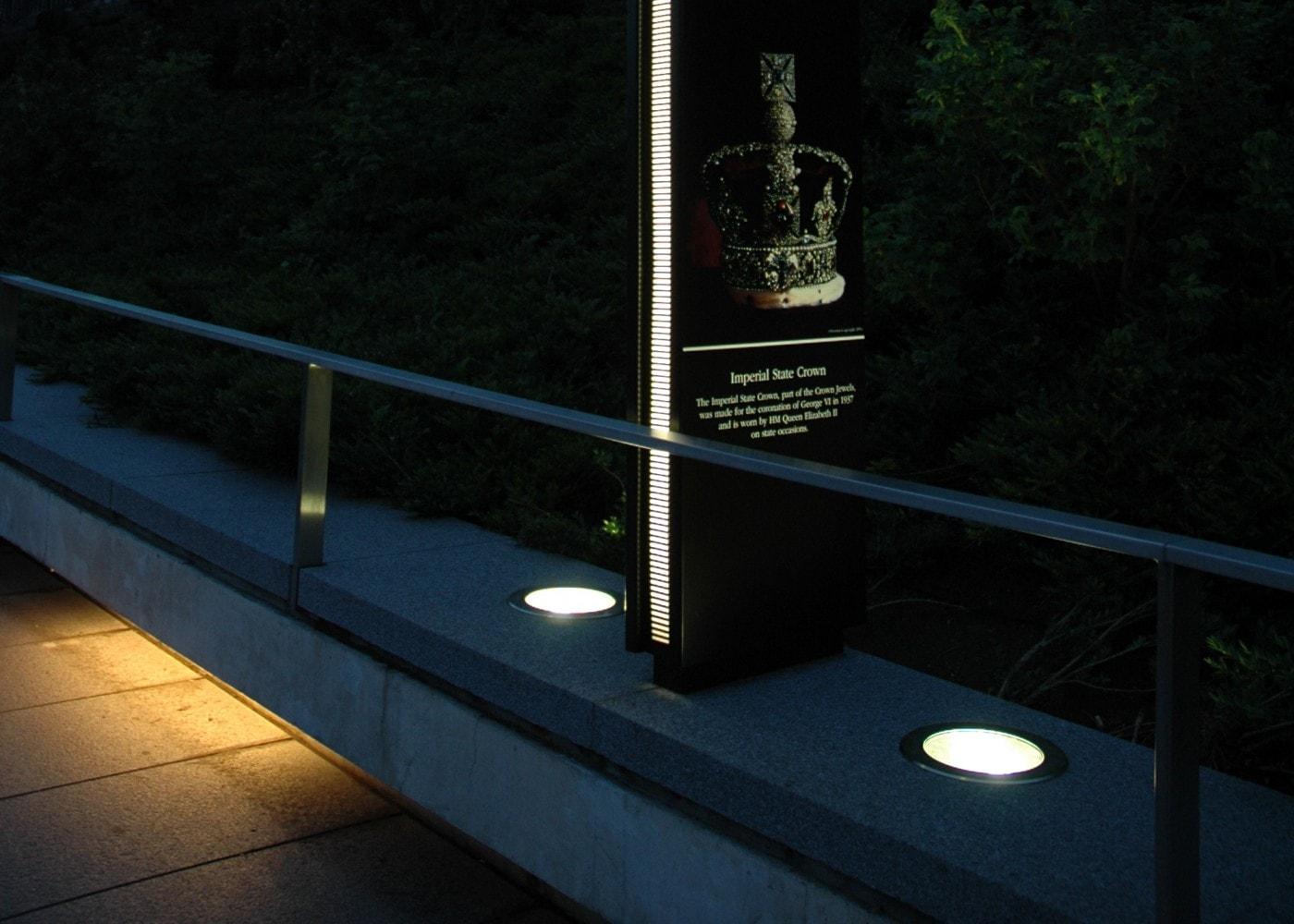 commercial lighting design welcome banner