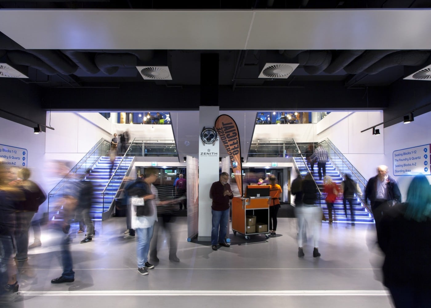 commercial lighting design: Barclaycard Arena entrance