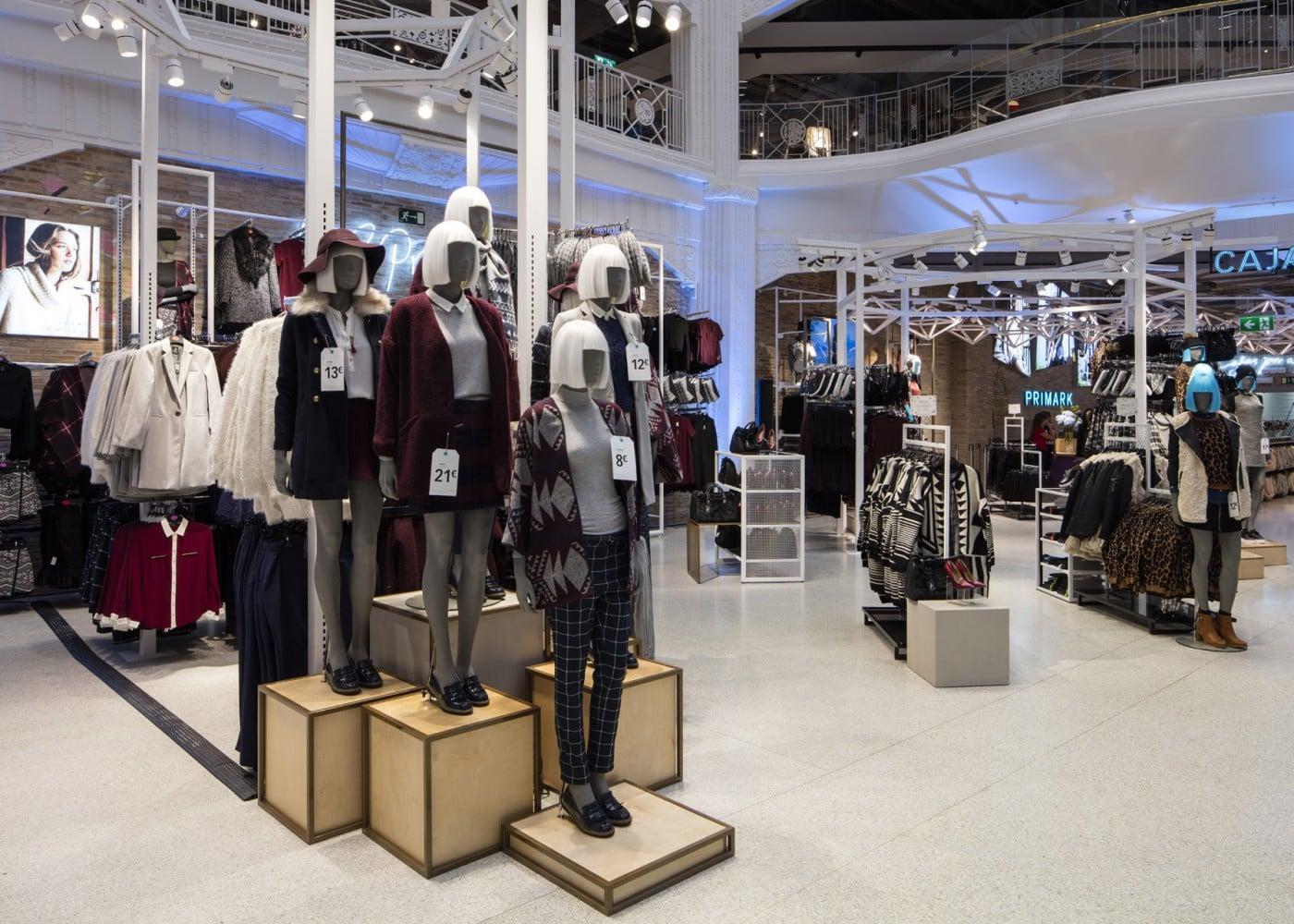 retail lighting design: Primark Madrid Gran Via Ladieswear department
