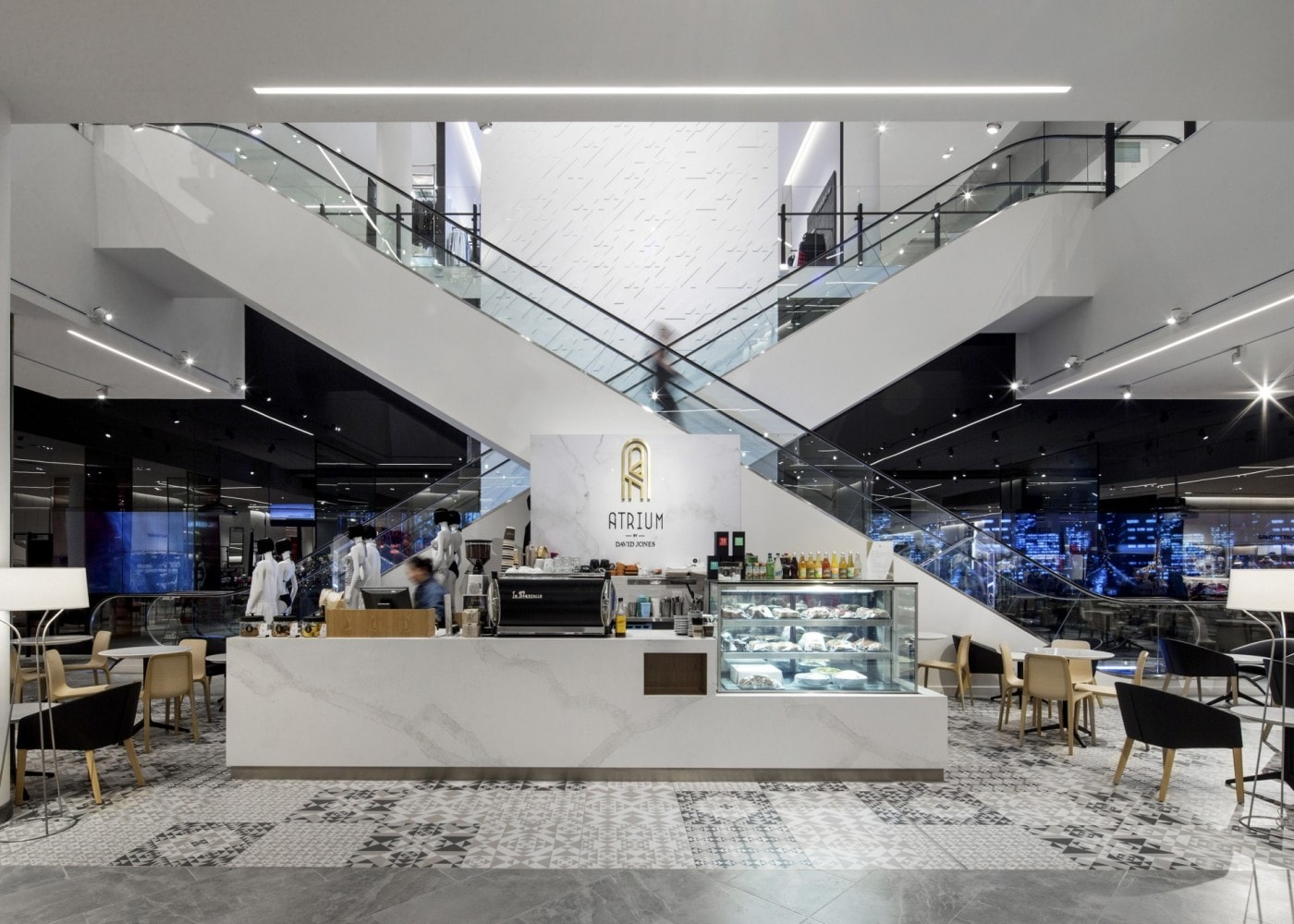 hospitality lighting design: Atrium