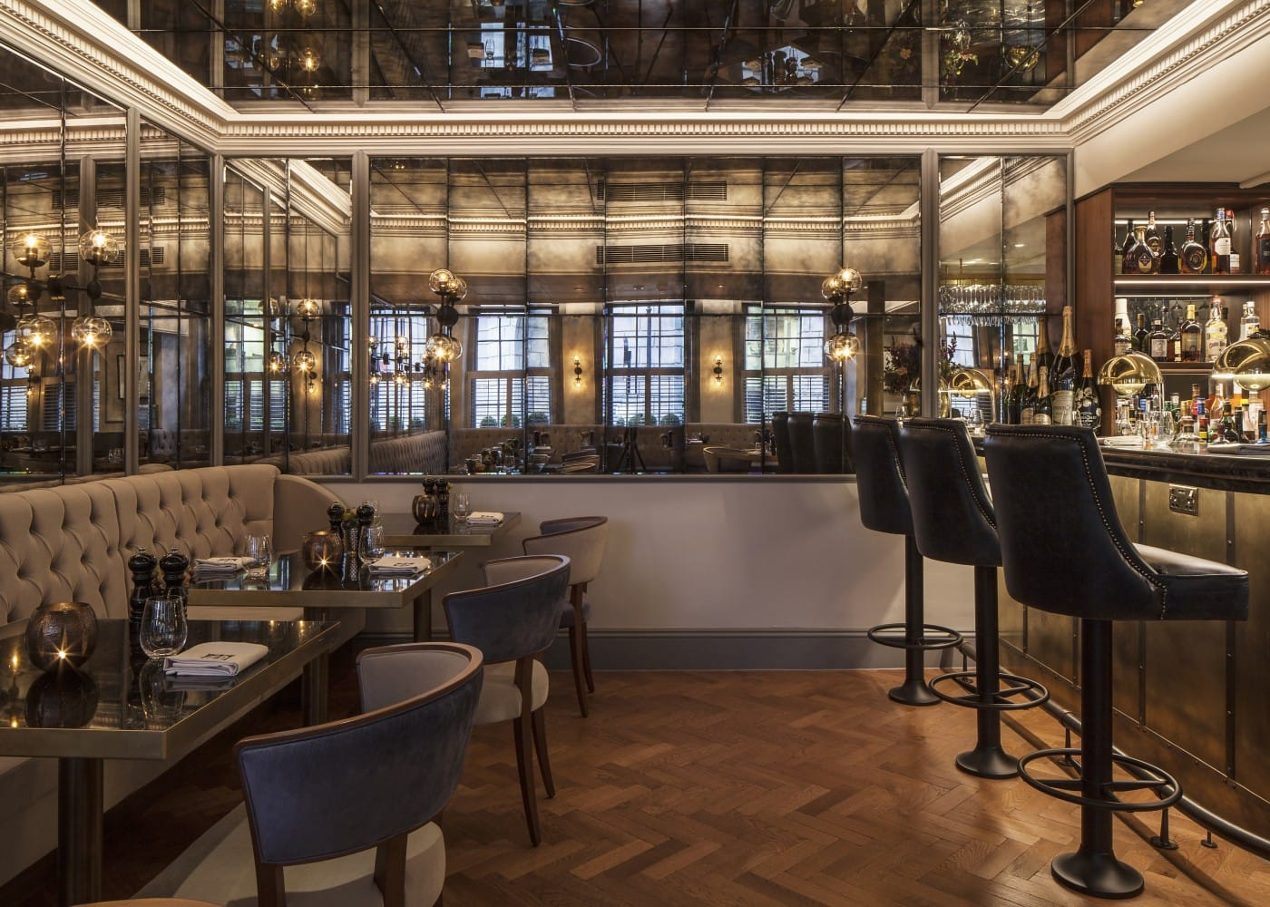 hospitality lighting design at Dukes