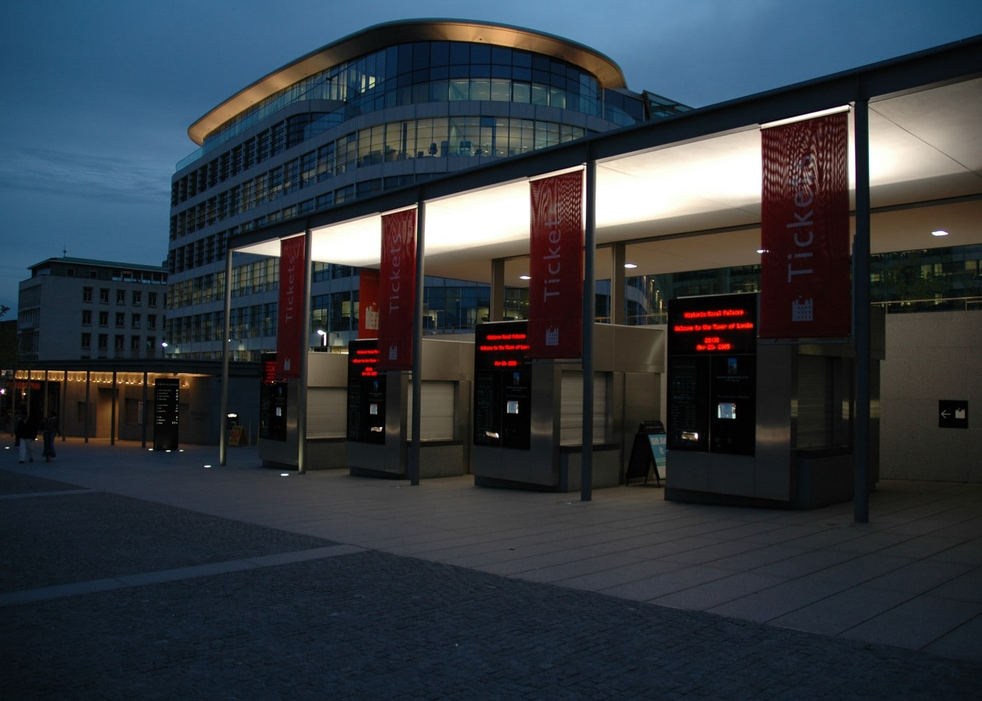 commercial lighting design ticket booth