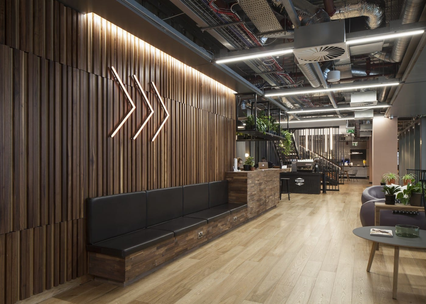 Commercial lighting design: One Spinningfields interior