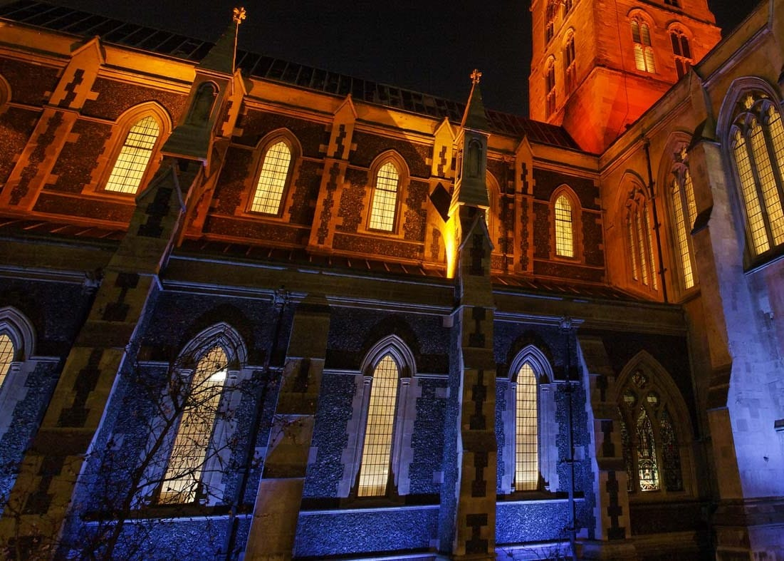architectural lighting design Southwark Cathedral