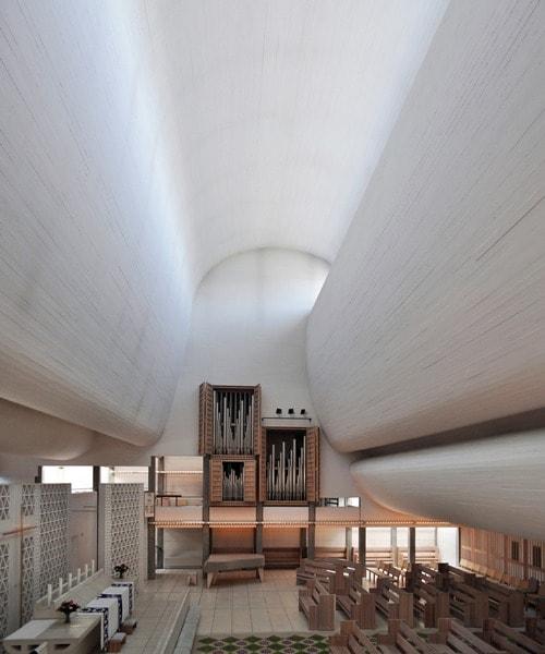 Architectural Lighting at Bagsvegard Church - Jorn Utzon