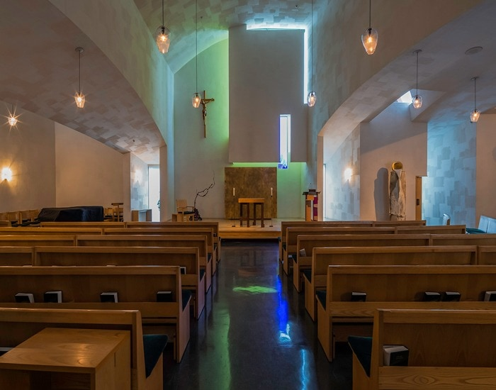 Architectural Lighting at Chapel of St Ignatius - Steven Holl