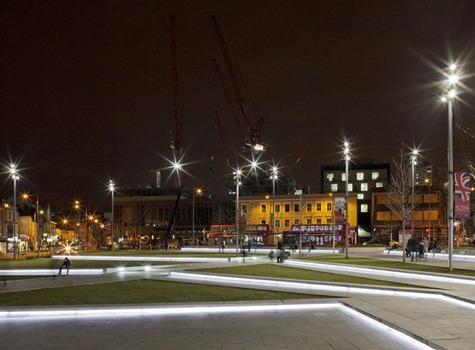 Woolwich Square exterior lighting