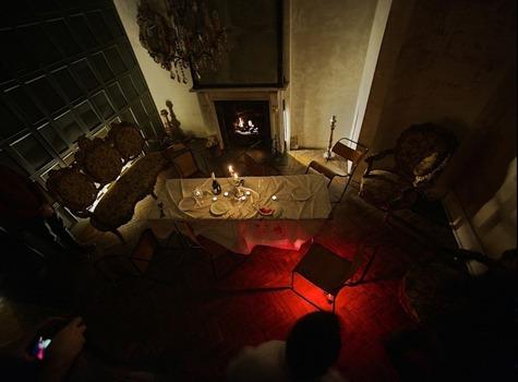 Lighting in Cluedo Murder Mystery house