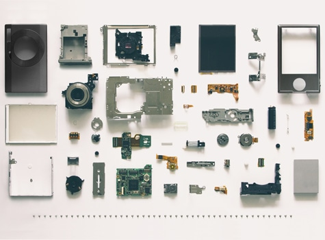 Components laid out